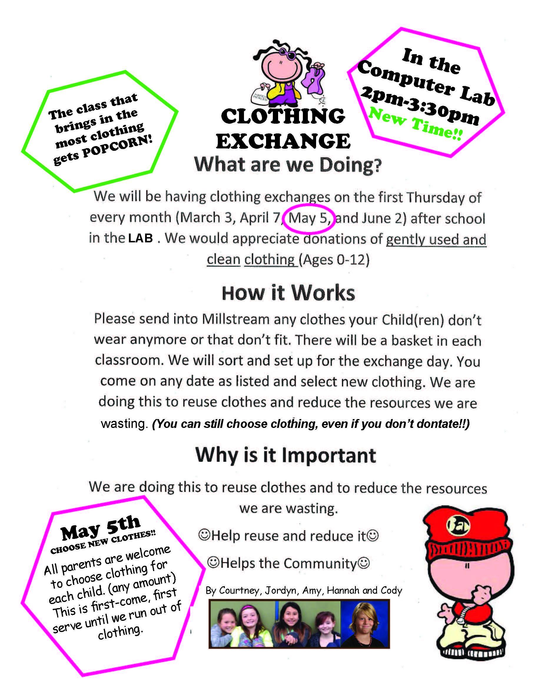 Clothing Exchange - May 5
