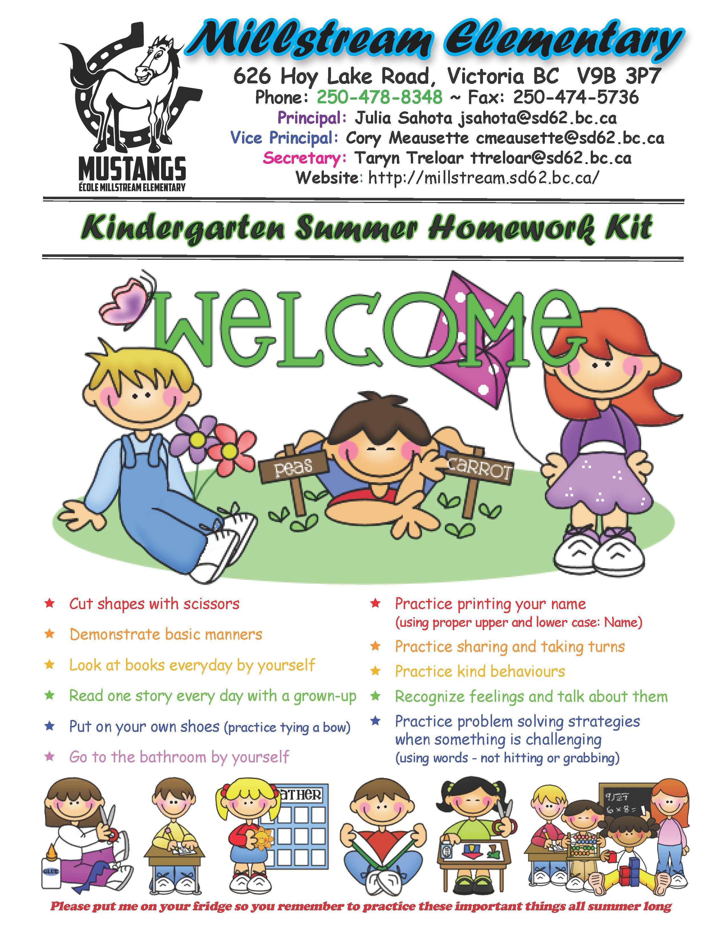 HOMEWORK KIT - KINDERGARTEN_Page_1