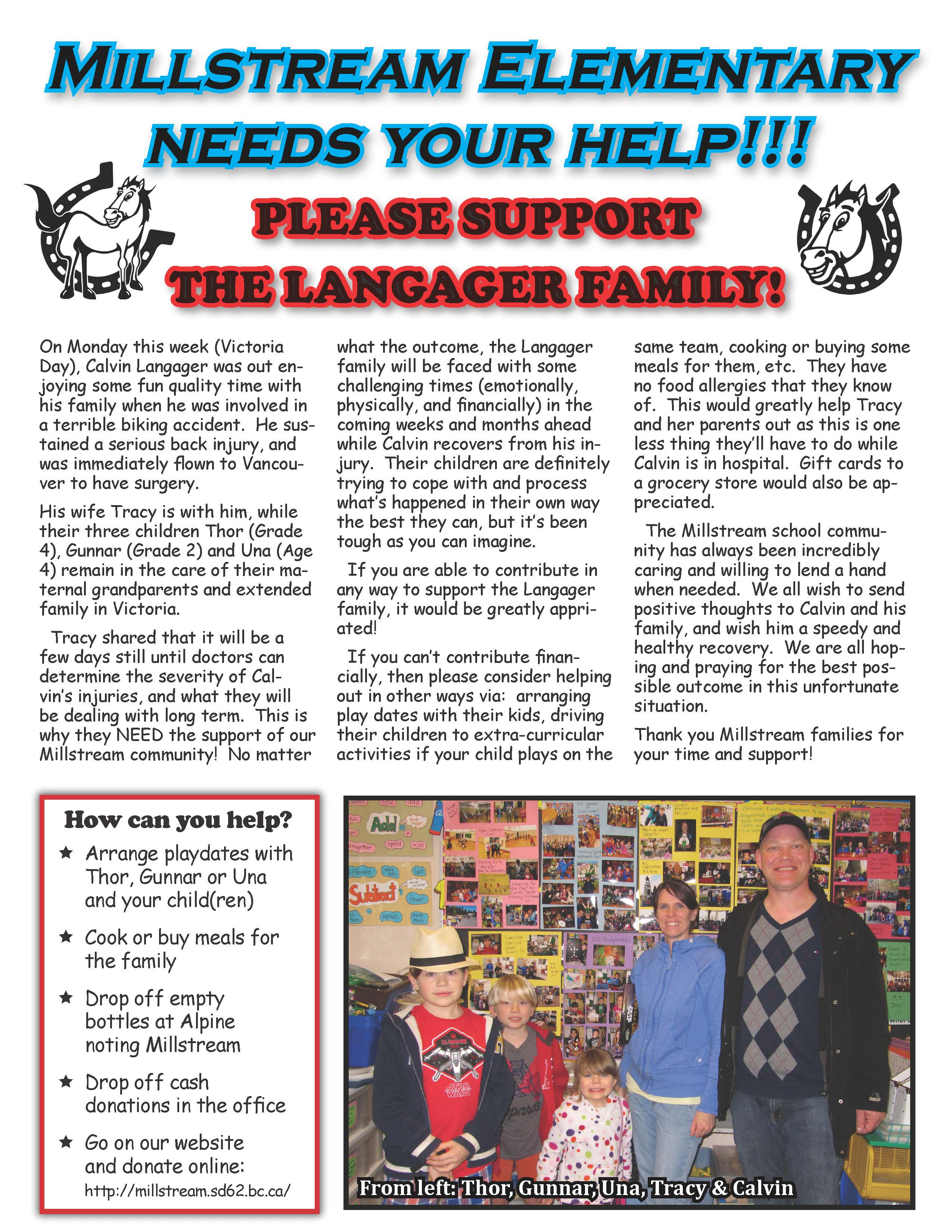 Please Support the Langager Family!
