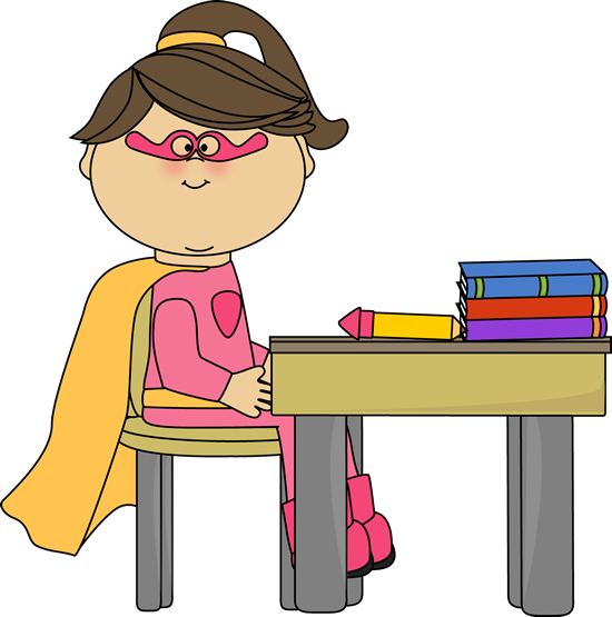 girl-superhero-at-school-desk