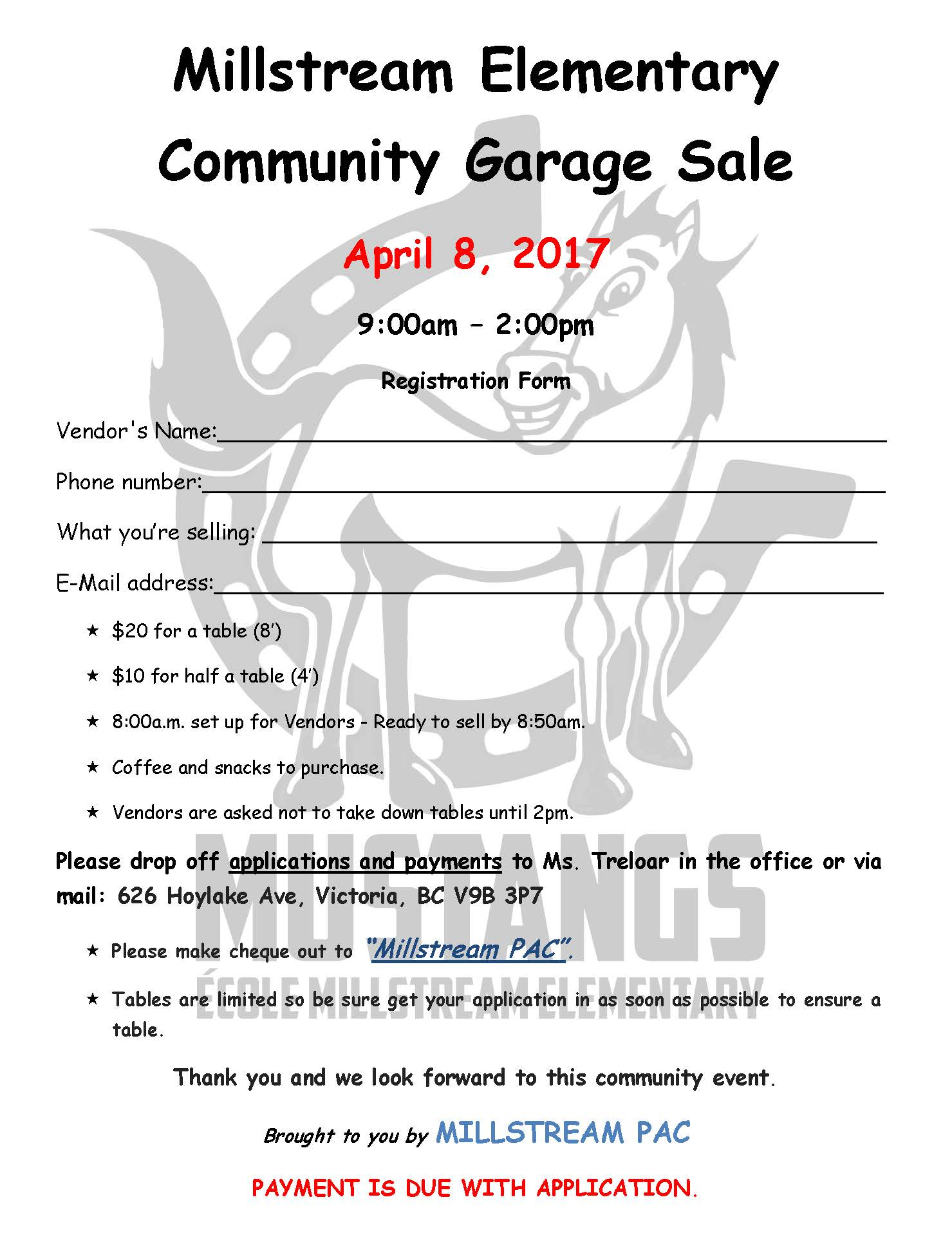 Millstream Elementary Community Garage Sale