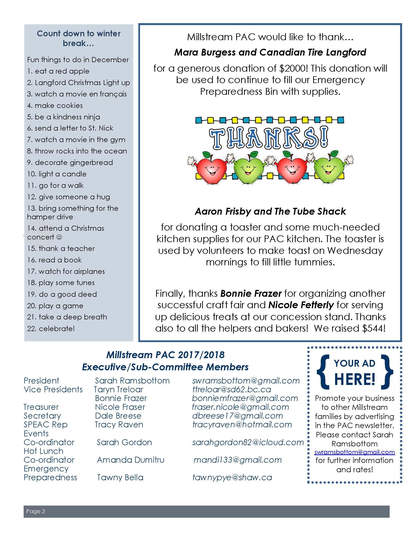 PAC December Newsletter_Page_2 | Millstream